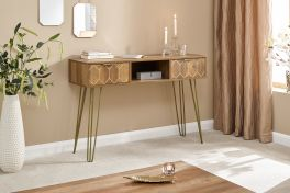 Orleans 2 Drawer Mango Wood Effect Console Table